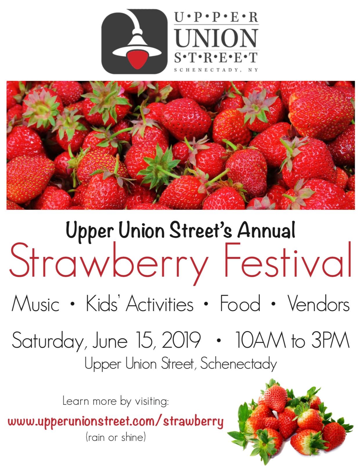 Upper Union Street Strawberry Festival Poster
